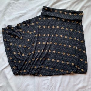 LuLaRoe Black & Tan Maxi Skirt